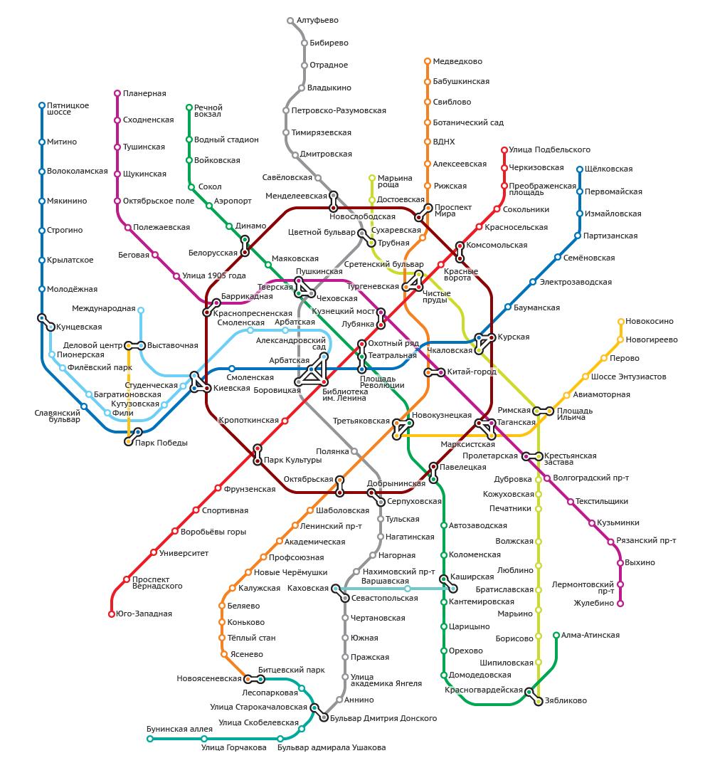 карта москвы 2020 с домами